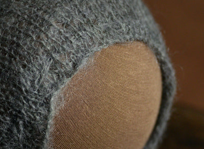 Adjustable Pointy Mohair Bonnet - Gray