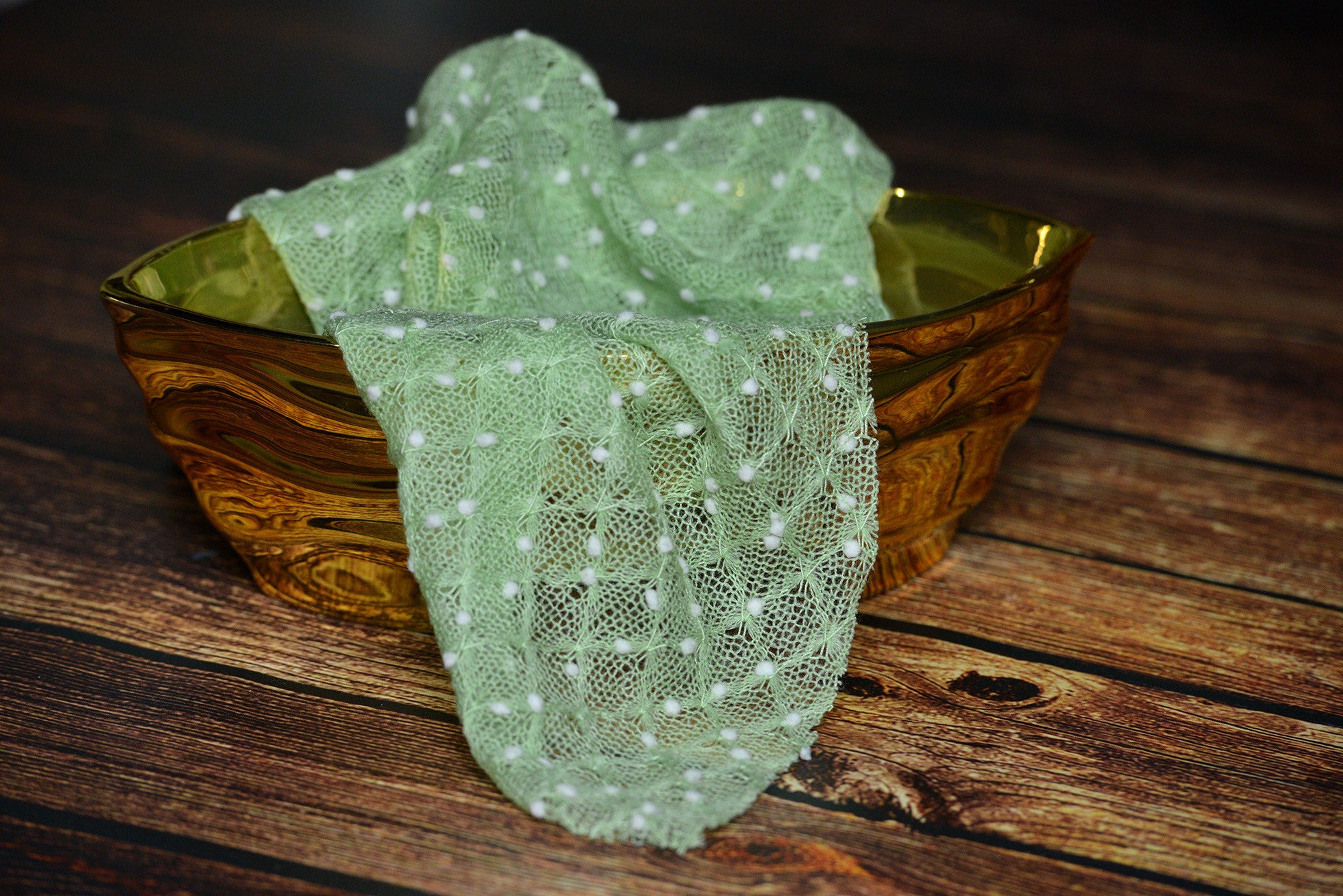 Tasseled Wrap - Green-Newborn Photography Props