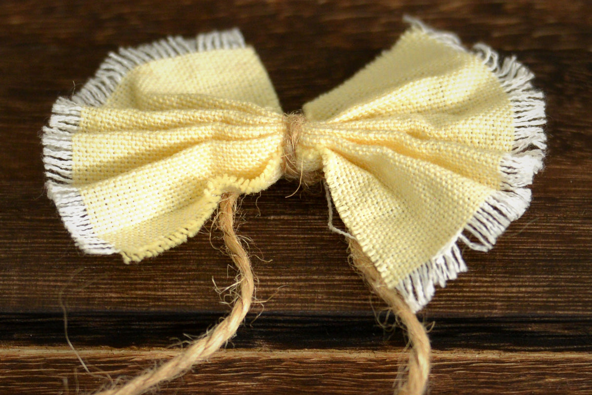 Bow-Tie Headband - Light Yellow-Newborn Photography Props