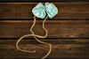 Bow-Tie Headband - Mint Green