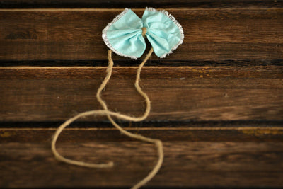 Bow-Tie Headband - Mint Green-Newborn Photography Props