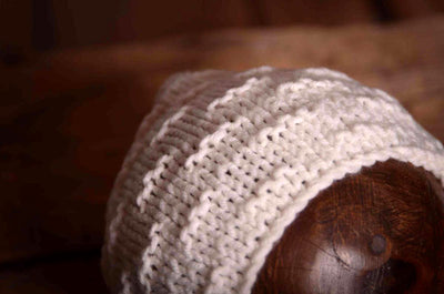 Crochet Bonnet - White-Newborn Photography Props
