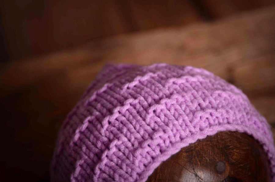 Crochet Bonnet - Lavender-Newborn Photography Props