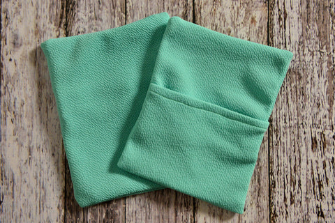 Cover for Mini Pillow - Textured - Mint