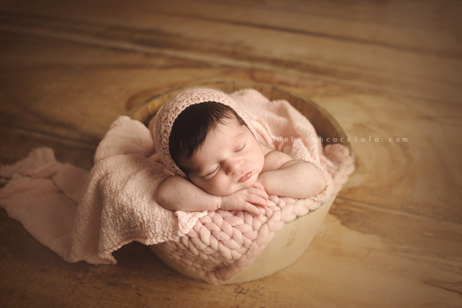 Rustic Bucket - 14in - Cream-Newborn Photography Props