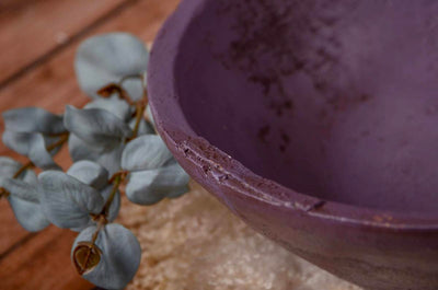 Vintage Bowl - Purple-Newborn Photography Props