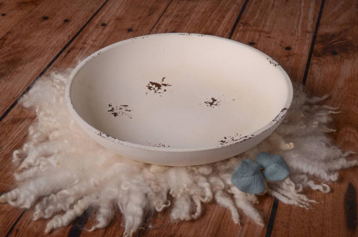 Flat Vintage Bowl - Off White