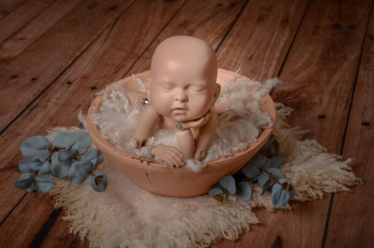 Vintage Bowl - Salmon-Newborn Photography Props