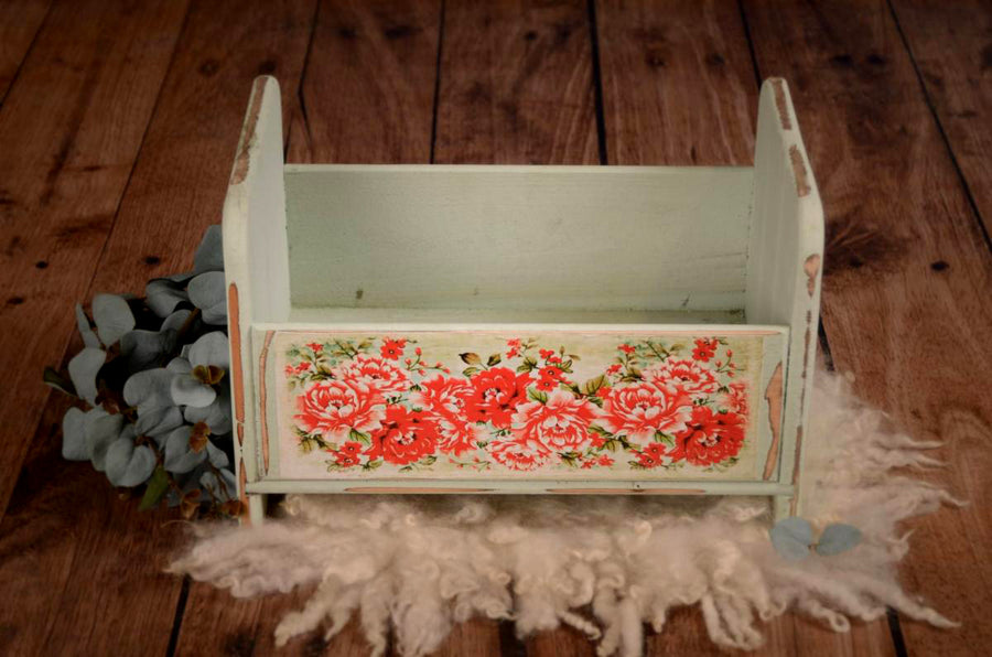 vintage crib for baby photography prop