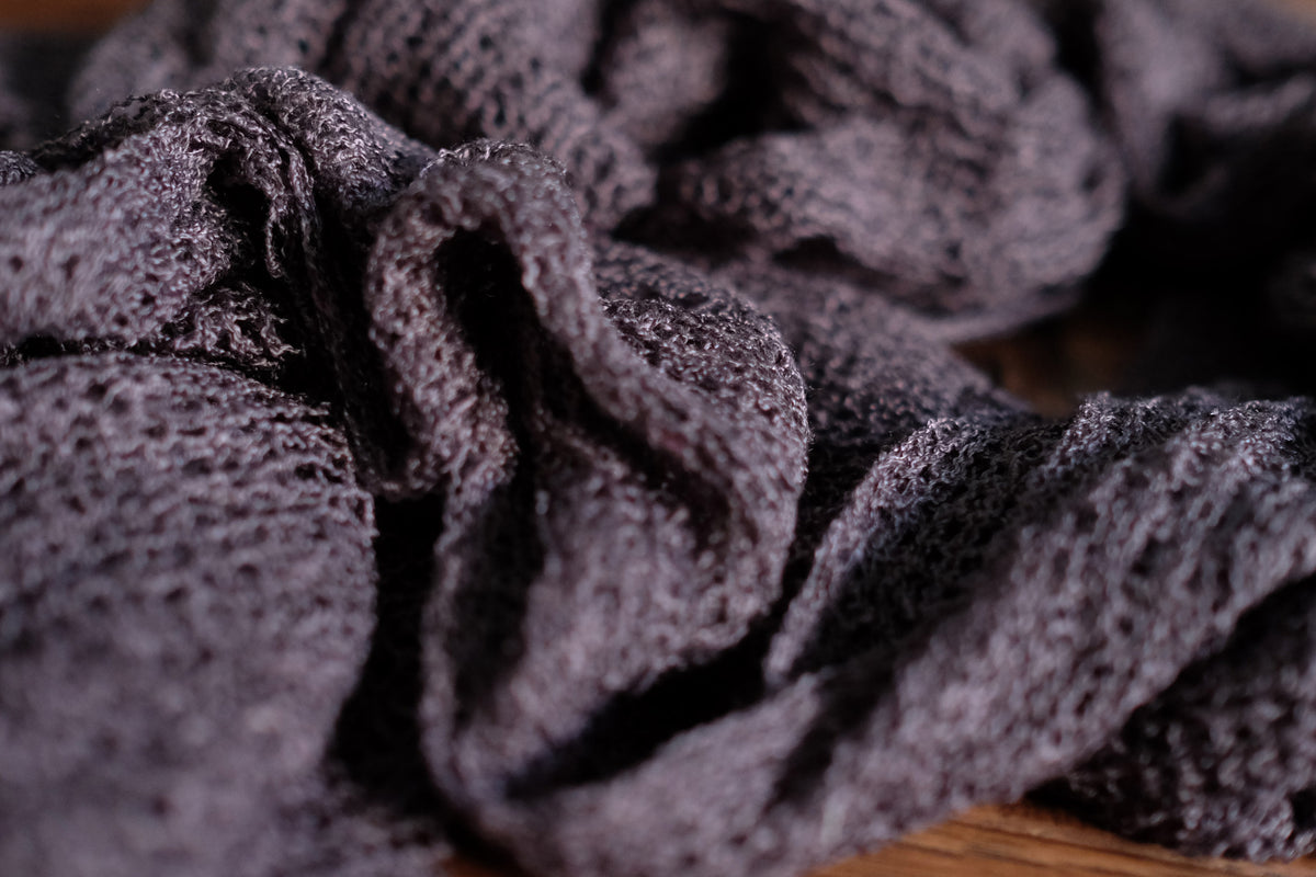 Stretch Knit Baby Wrap - Dark Gray-Newborn Photography Props
