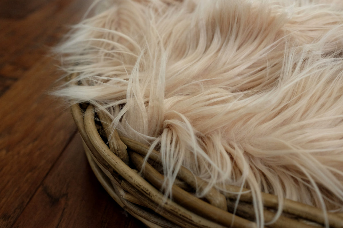 Faux Fur - Wheat-Newborn Photography Props