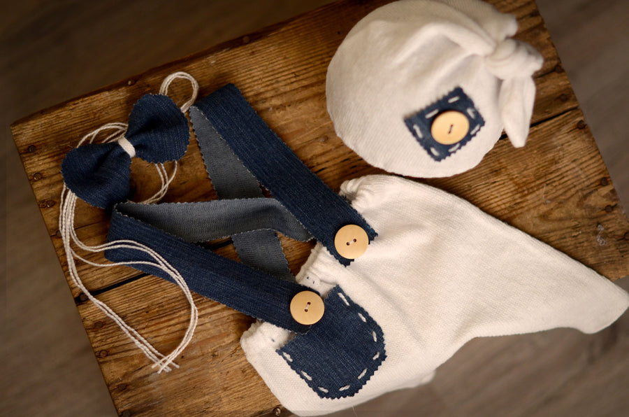 SET Dungarees 3-Piece Denim