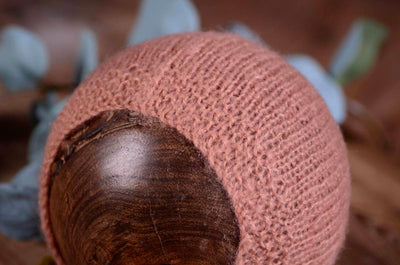 Mohair Bonnet - Smooth - Dusty Pink-Newborn Photography Props