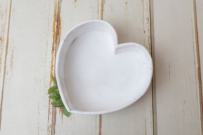 Vintage Heart Bowl - White