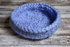 Knitted Thick Yarn Basket - Light Blue-Newborn Photography Props
