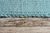 Knitted Thick Yarn Blanket - Aquamarine Blue
