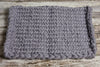 Knitted Thick Yarn Blanket - Light Gray-Newborn Photography Props