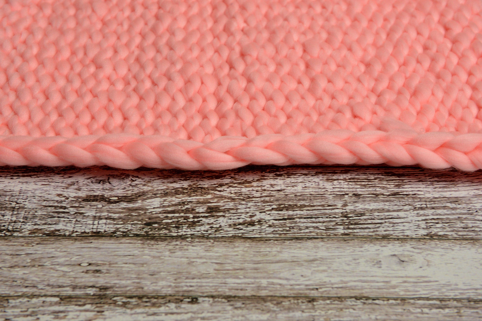 Knitted Thick Yarn Blanket - Pink-Newborn Photography Props