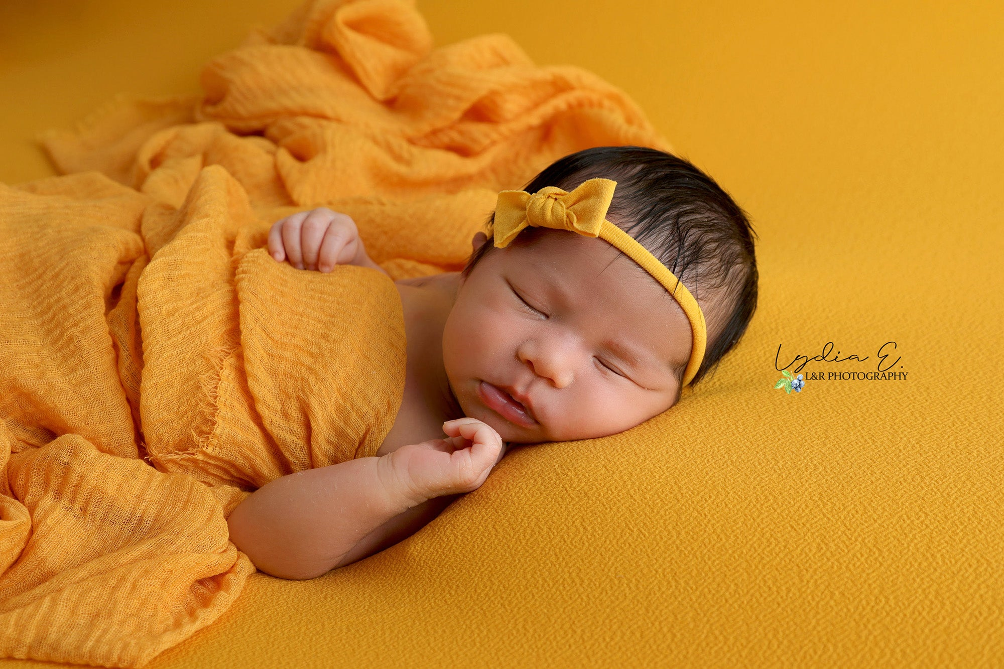 Bean Bag Fabric - Textured - Mustard-Newborn Photography Props