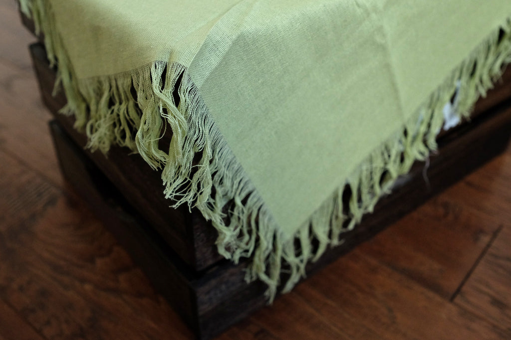 Linen Blanket - Light Green