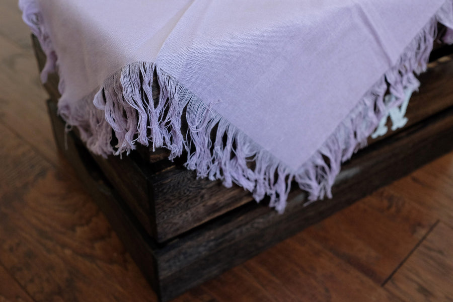 Linen Blanket - Light Lilac
