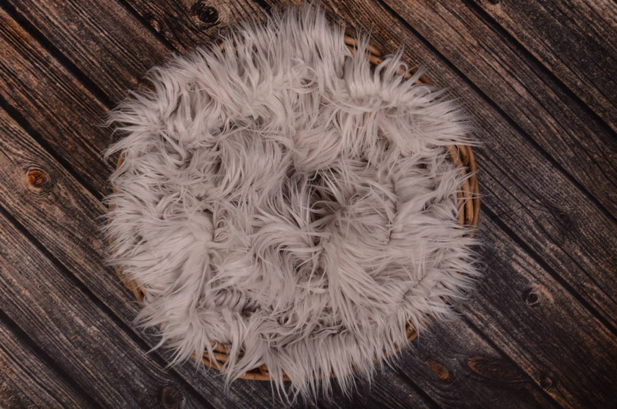 Faux Fur - Silver-Newborn Photography Props