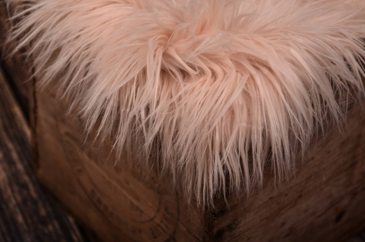 Faux Fur - Baby Pink-Newborn Photography Props