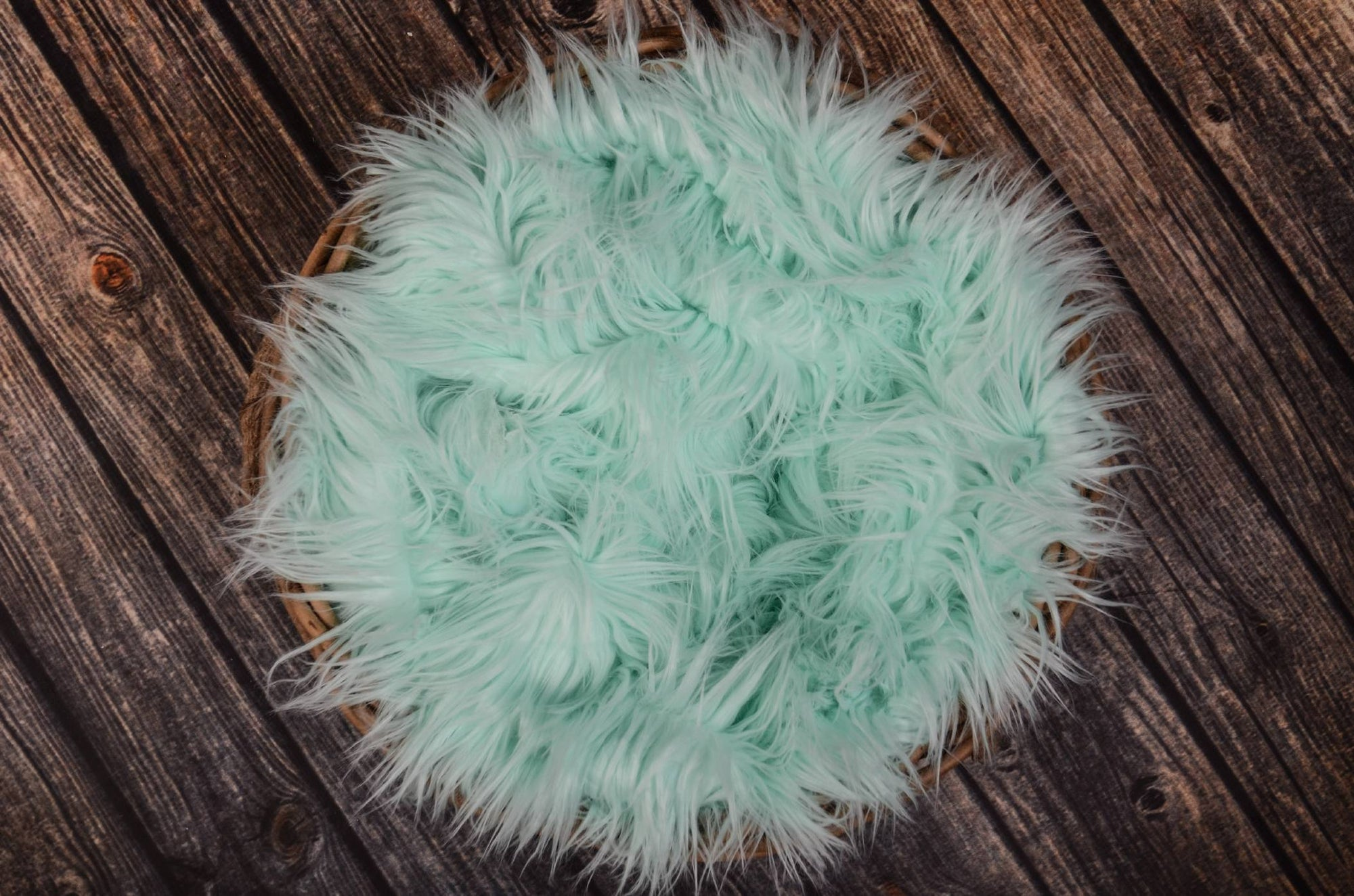 Faux Fur - Aqua-Newborn Photography Props