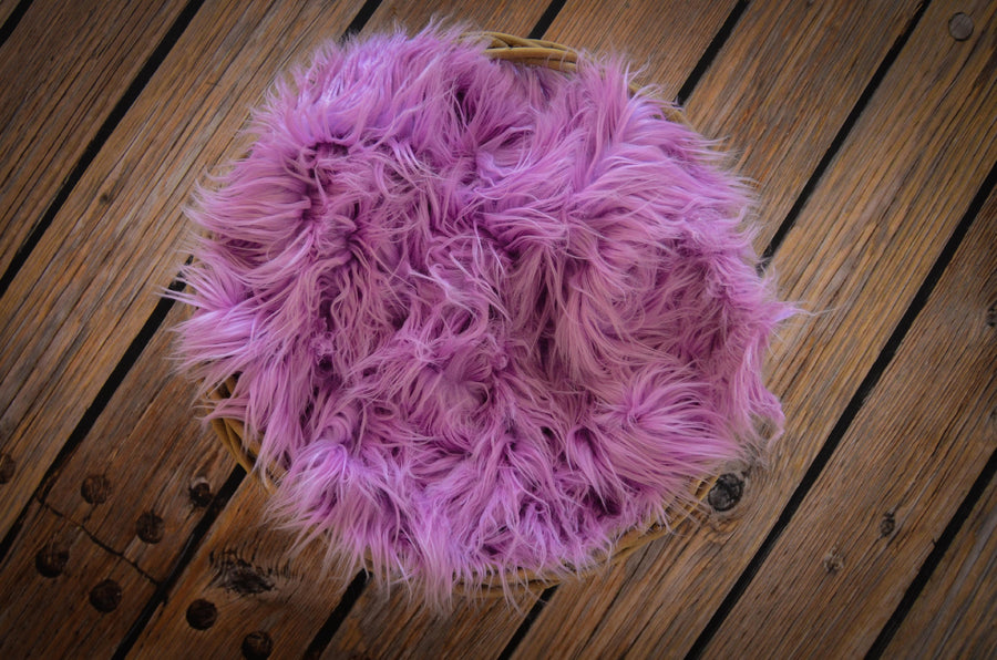Faux Fur - Lavender-Newborn Photography Props