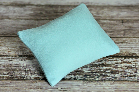Mini Pillow with Cover - Textured - Light Blue