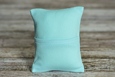 Mini Pillow with Cover - Textured - Light Blue-Newborn Photography Props