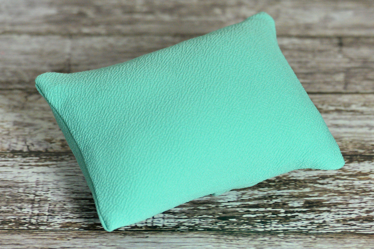 Mini Pillow with Cover - Textured - Mint-Newborn Photography Props