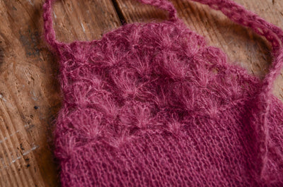 Mohair Overall - Mauve-Newborn Photography Props