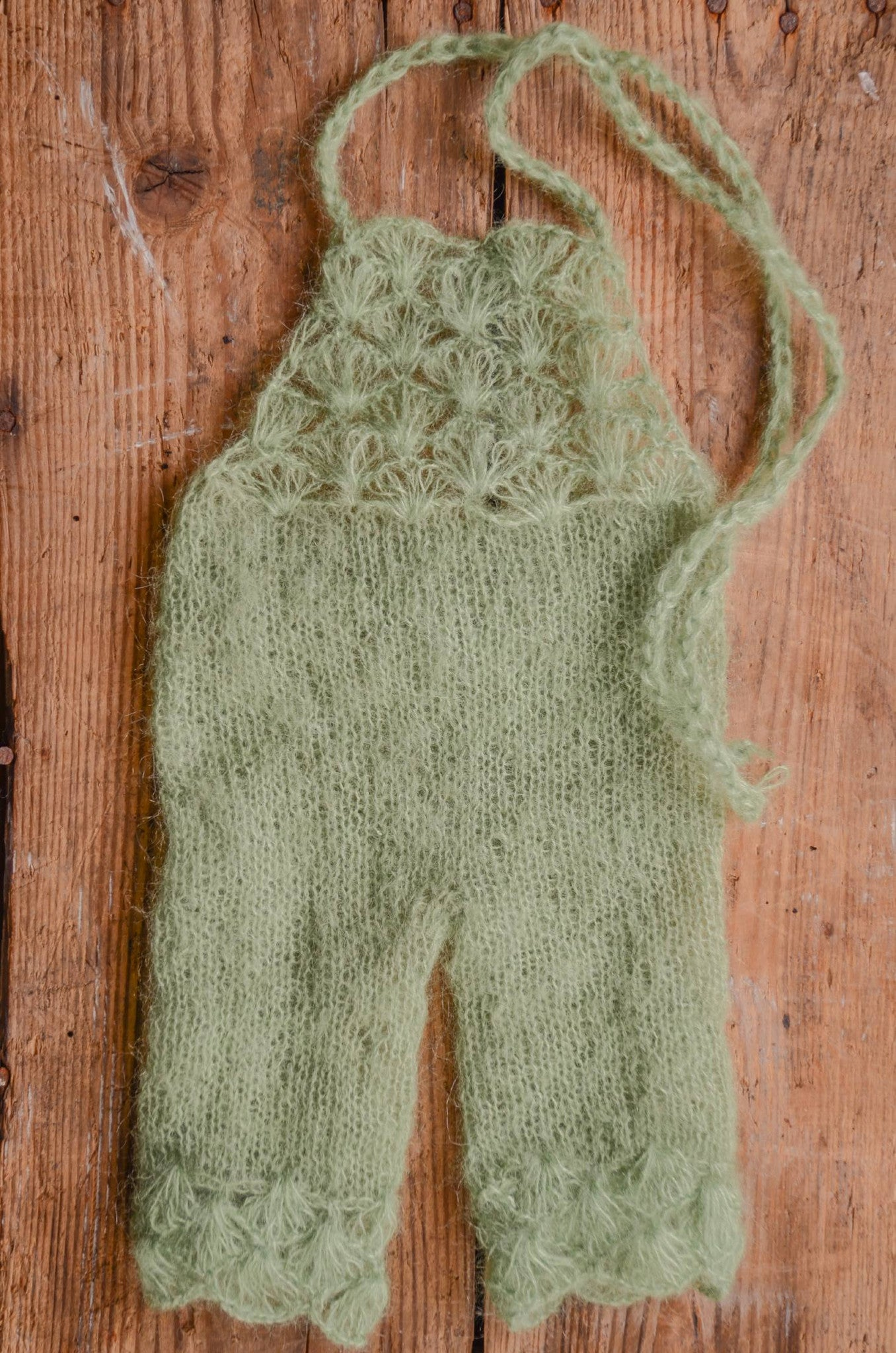 Mohair Overall - Sage-Newborn Photography Props