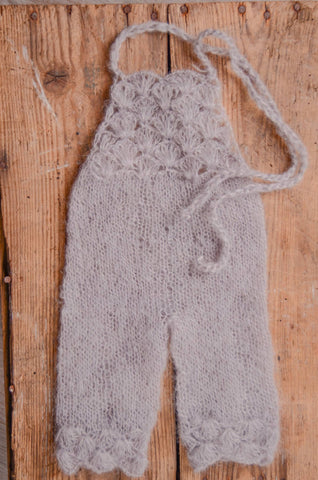 Mohair Overall - Silver