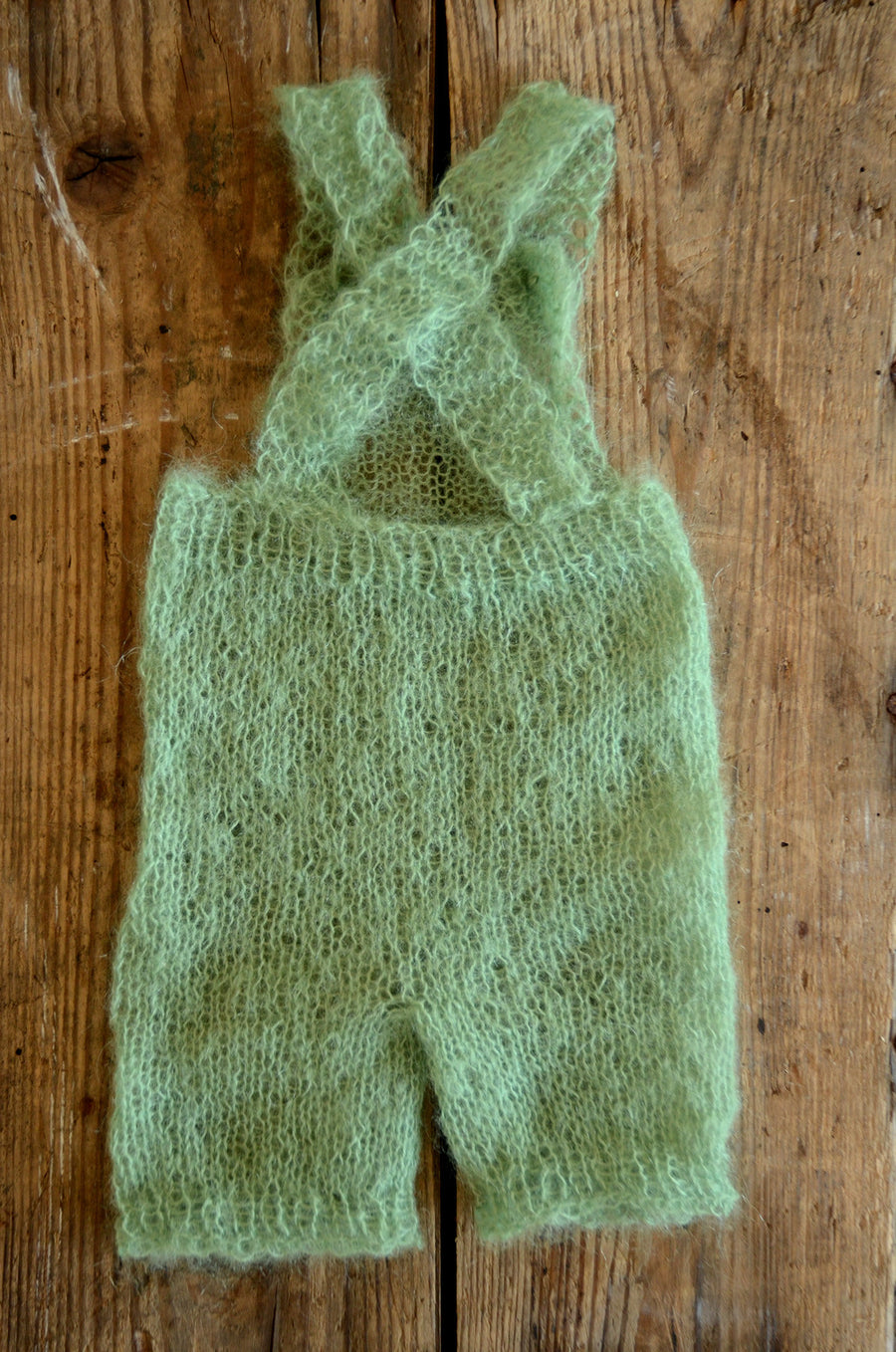 Mohair Overall with Patch and Buttons - Sage