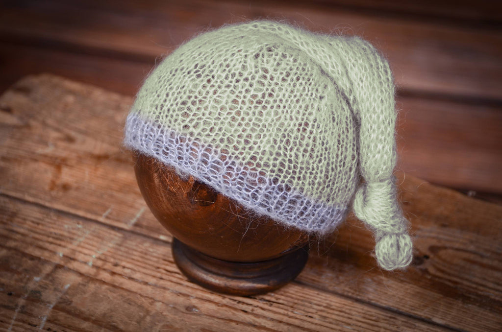 Mohair Sleeping Hat - Pale Green