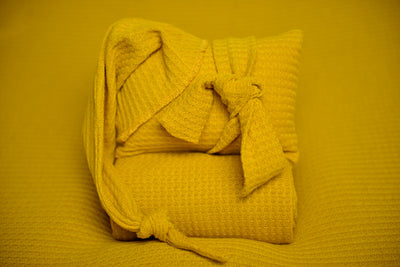 Bean Bag Set - Perforated Mustard
