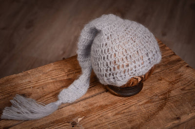 Ornate Mohair Sleeping Hat - Cloud-Newborn Photography Props