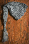 Ornate Mohair Sleeping Hat - Gray