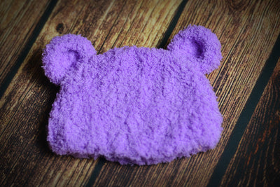 Teddy Bear Hat - Lilac
