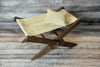 Rustic Deck Chair AND Matching Pillow - Interchangeable Canvas