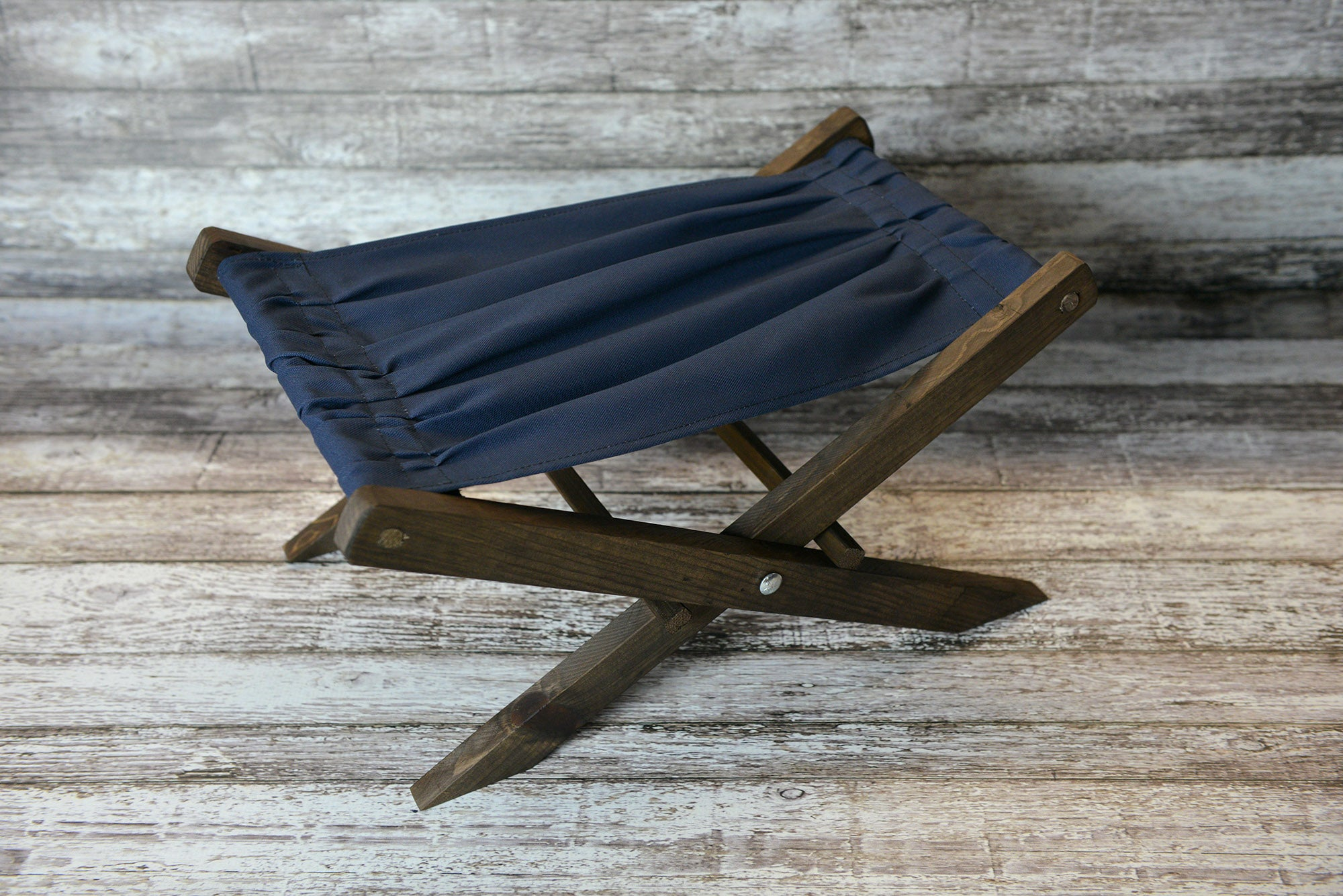 Rustic Deck Chair - Navy Canvas - Interchangeable : canvas chair - Cheerinfomania.Com