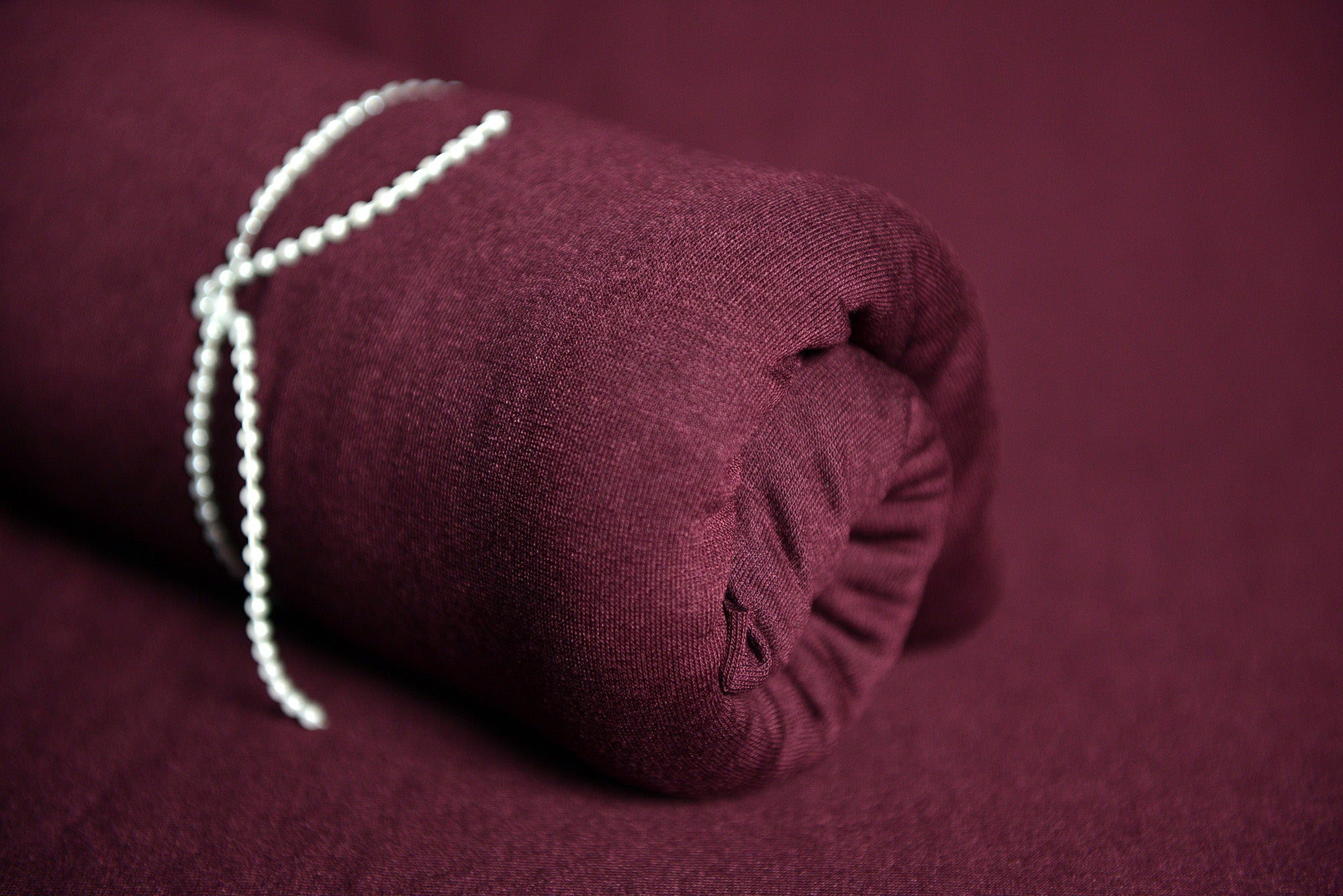 Bean Bag Fabric - Smooth - Burgundy-Newborn Photography Props