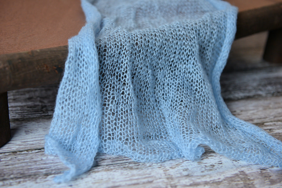 Mohair Wrap - Light Blue