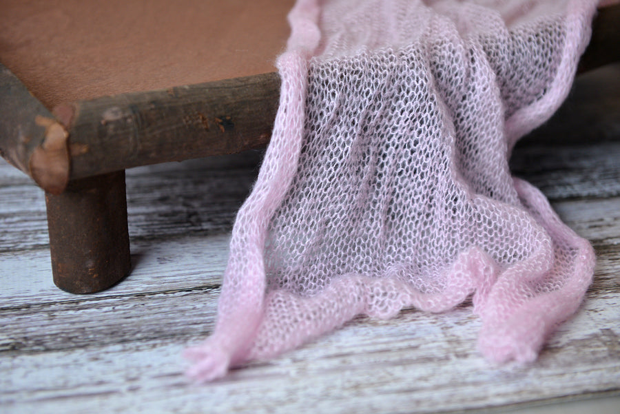 Mohair Wrap - Light Pink