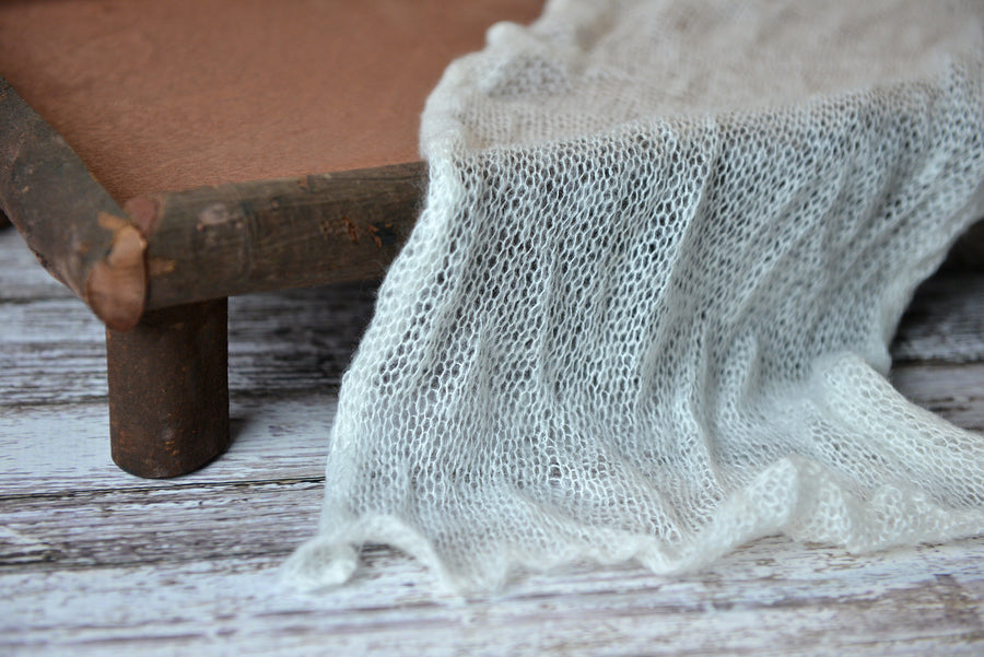 Mohair Wrap - Milk White