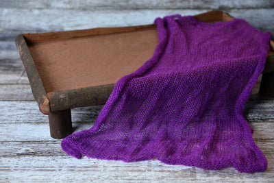 Mohair Wrap - Intense Violet-Newborn Photography Props