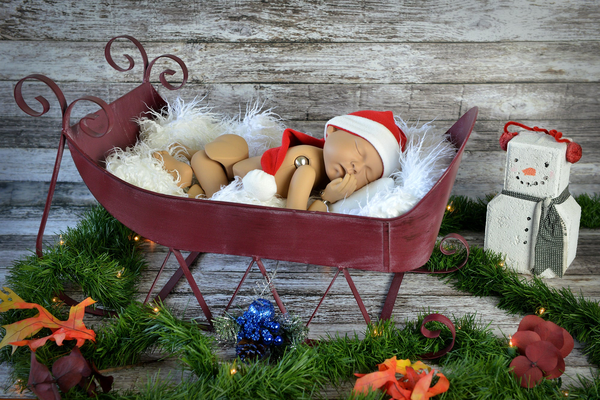 Vintage Sleigh - Model 5-Newborn Photography Props
