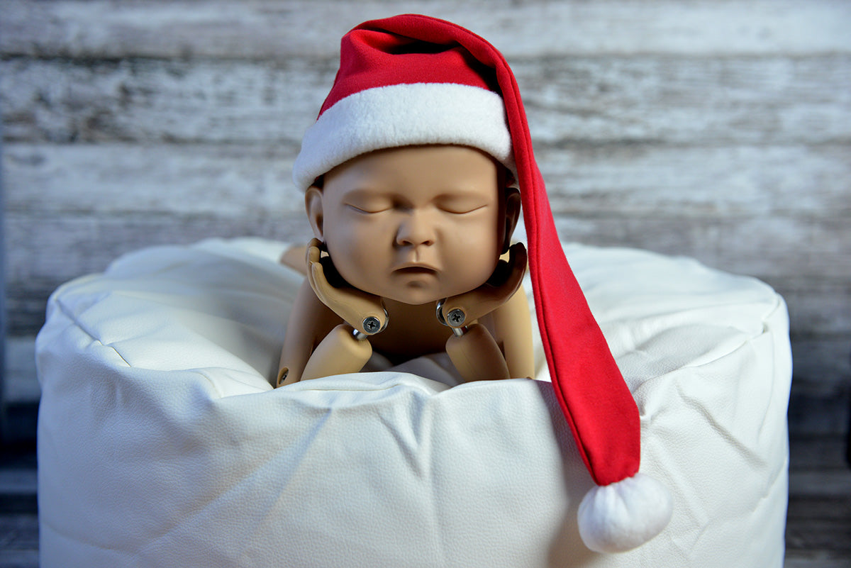 Santa hat for newborn photography